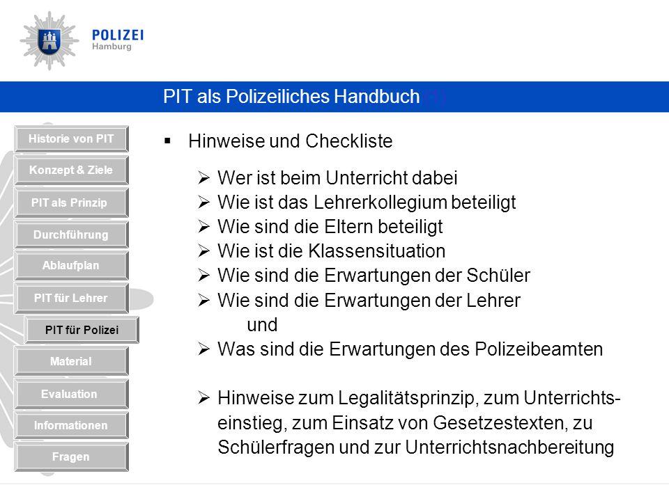 PIT als Polizeiliches Handbuch (1)