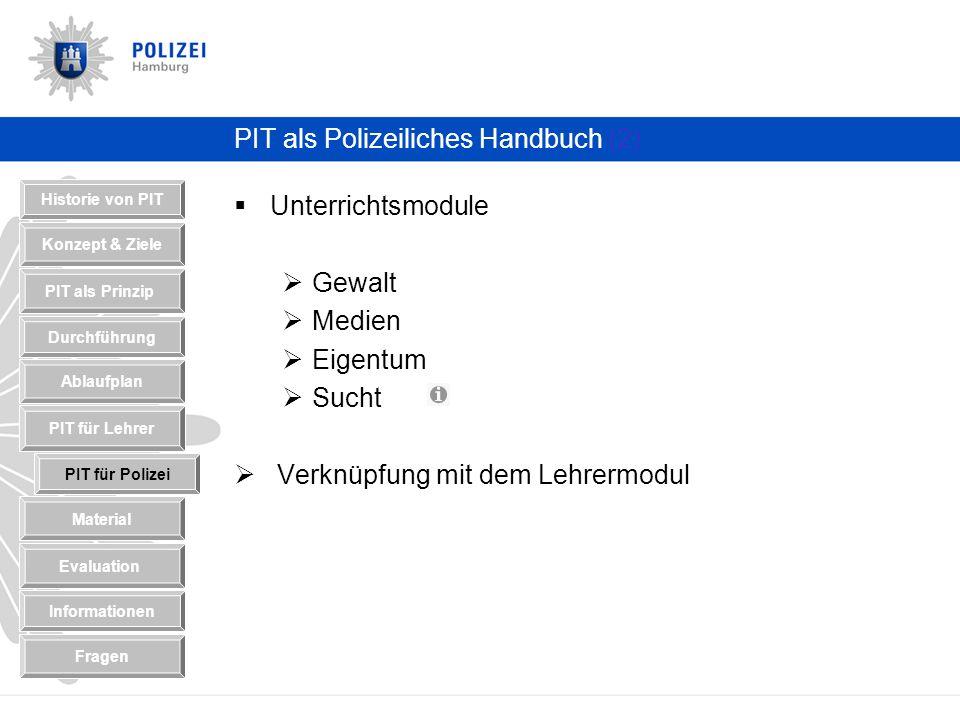 PIT als Polizeiliches Handbuch (2)