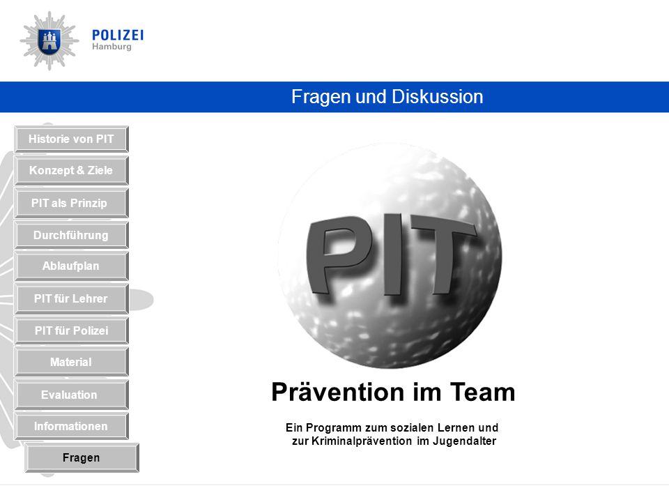 Prävention im Team Fragen und Diskussion Historie von PIT