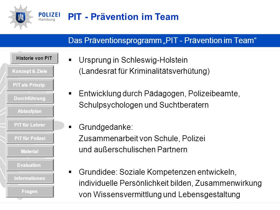 "Das Präventionsprogramm ""PIT - Prävention im Team"