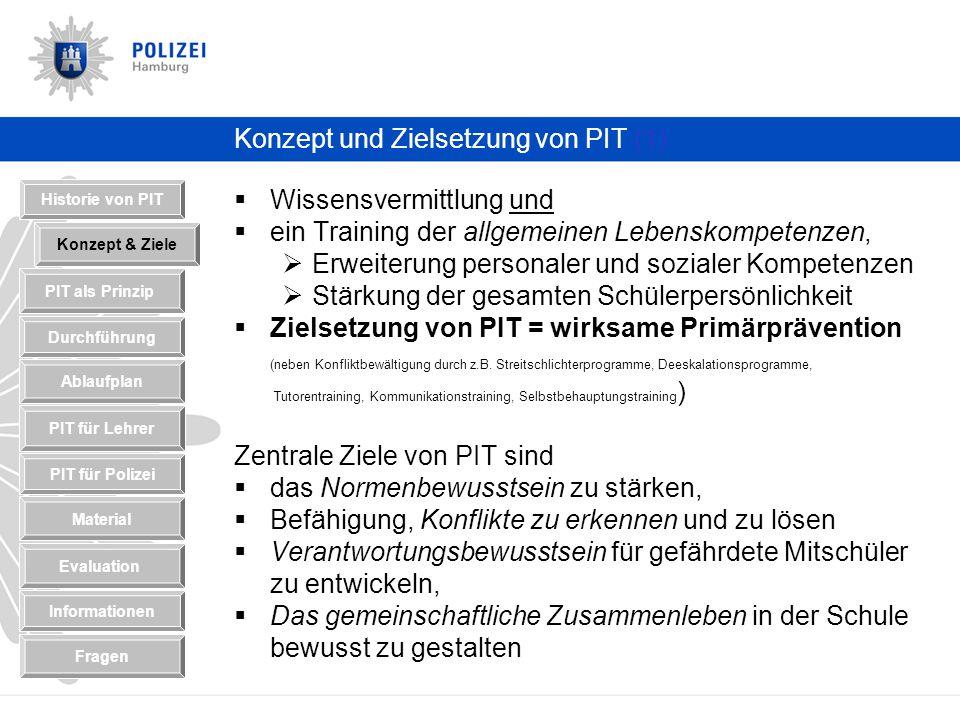 Konzept und Zielsetzung von PIT (1)