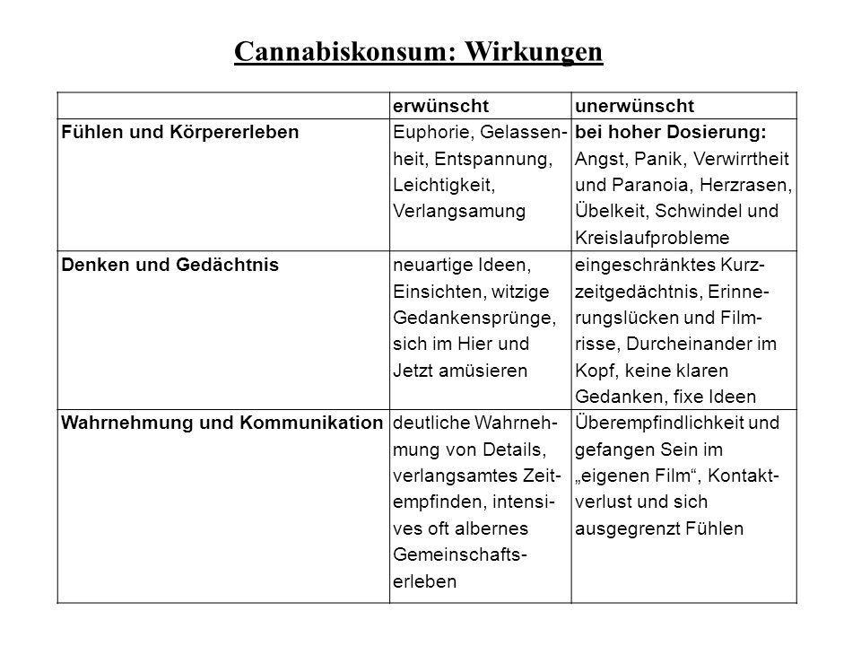 Cannabiskonsum: Wirkungen