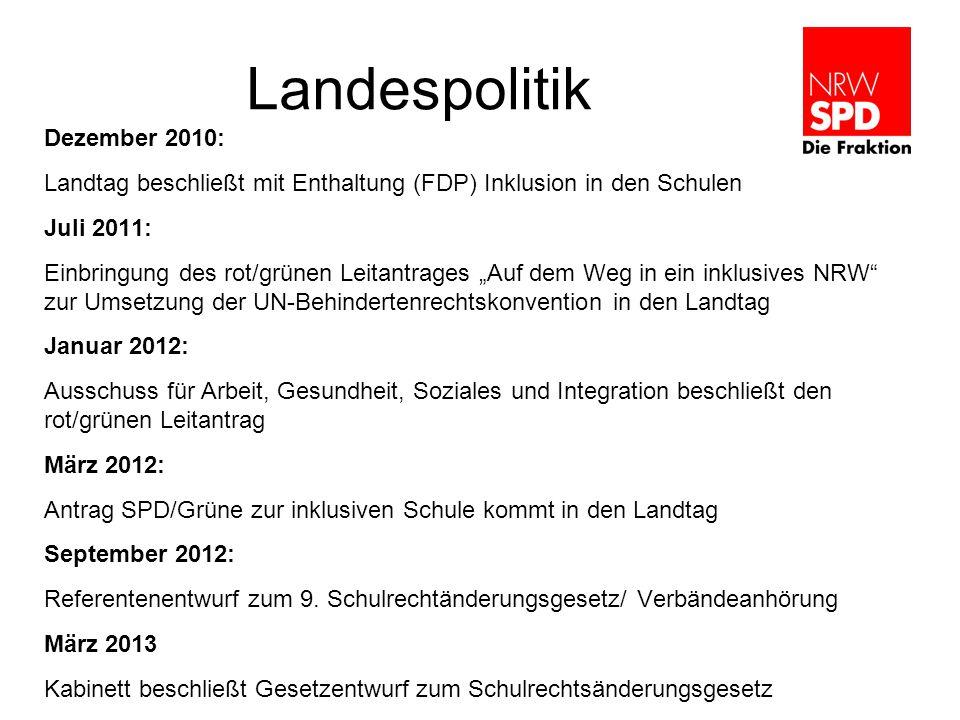Landespolitik Dezember 2010:
