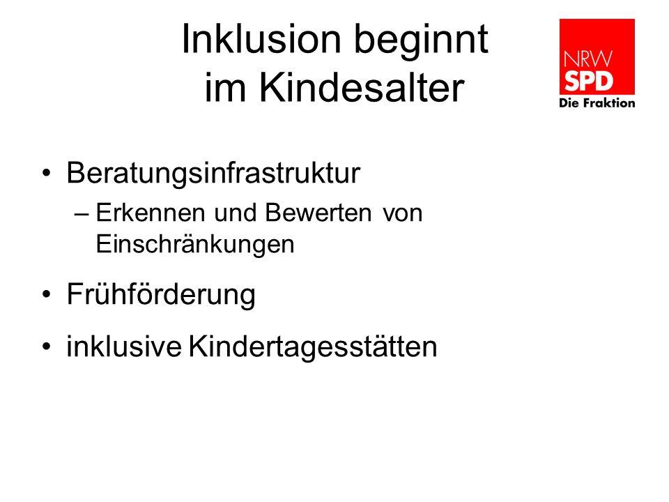 Inklusion beginnt im Kindesalter