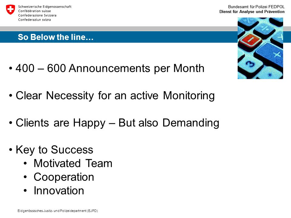 400 – 600 Announcements per Month