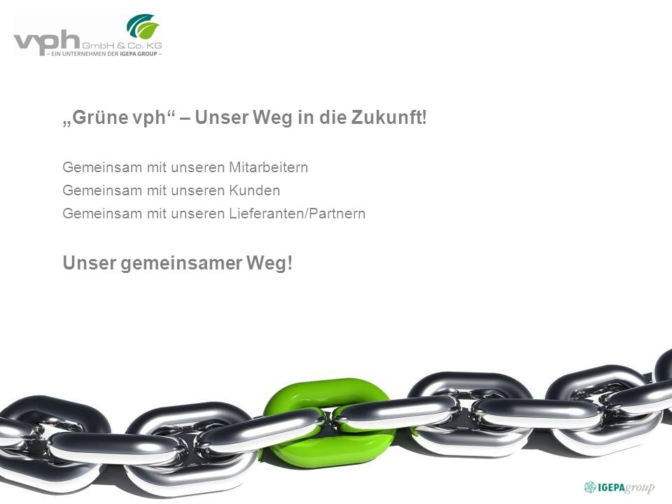 """""""Grüne vph – Unser Weg in die Zukunft!"""