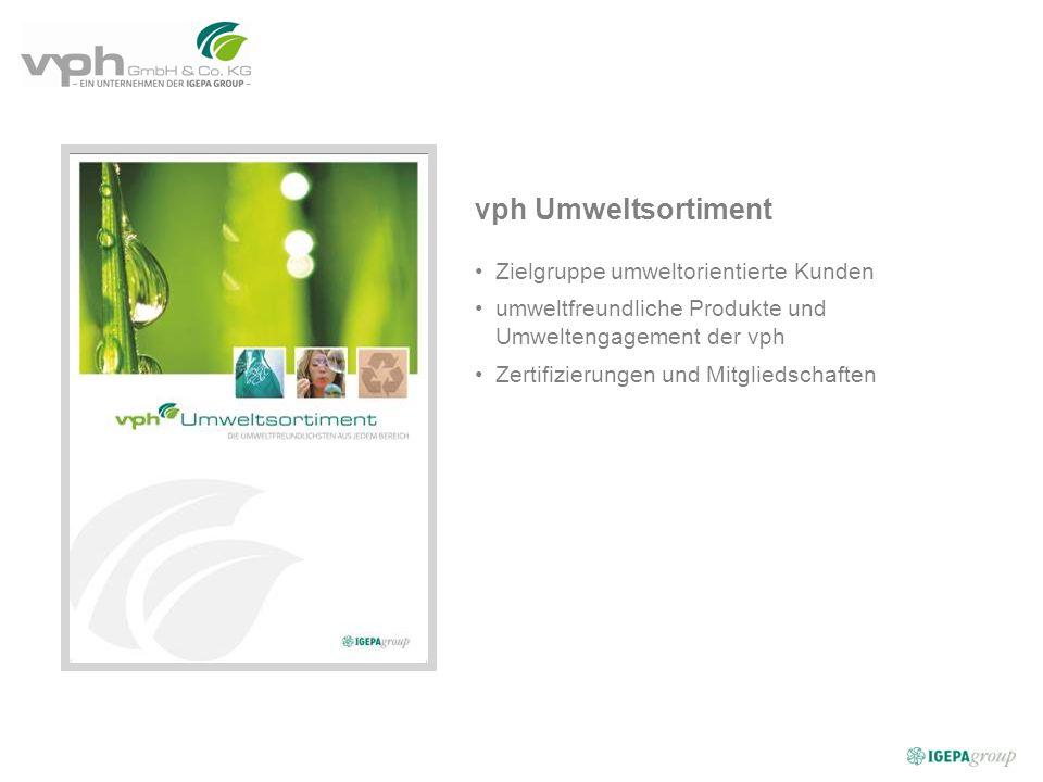 vph Umweltsortiment Zielgruppe umweltorientierte Kunden