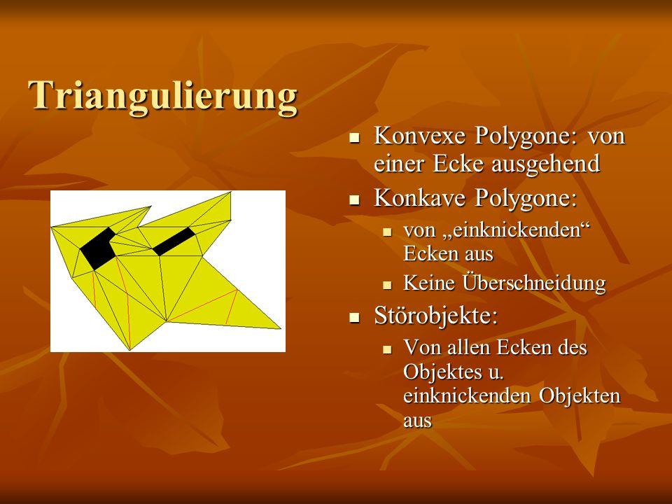 Triangulierung Konvexe Polygone: von einer Ecke ausgehend