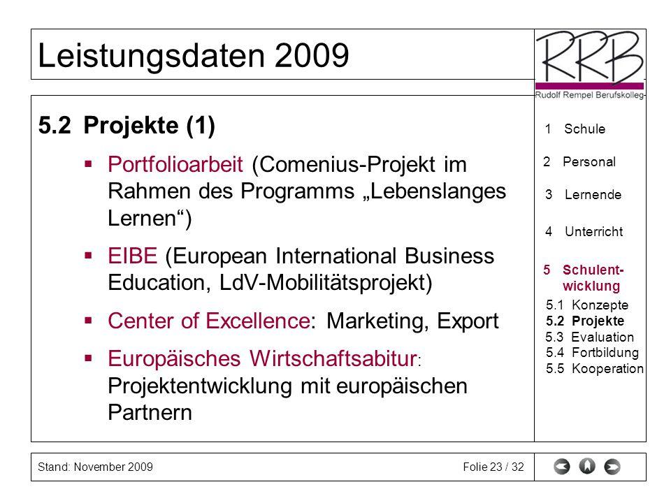 "5.2 Projekte (1) Portfolioarbeit (Comenius-Projekt im Rahmen des Programms ""Lebenslanges Lernen )"