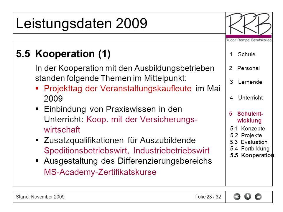 5.5 Kooperation (1) In der Kooperation mit den Ausbildungsbetrieben