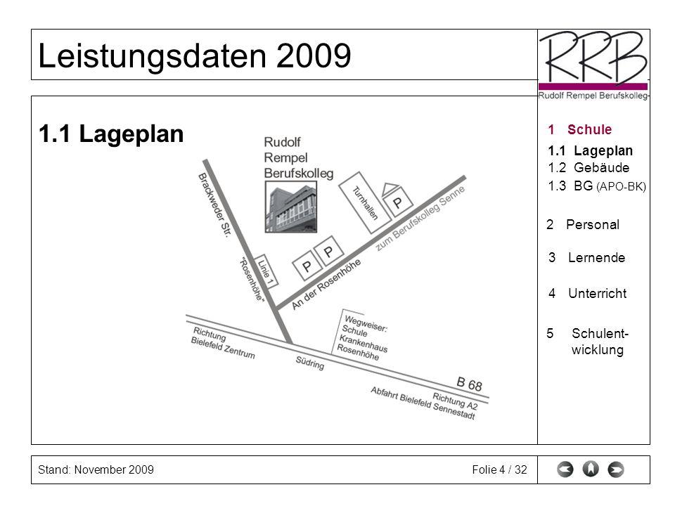 1.1 Lageplan 1 Schule 1.1 Lageplan 1.2 Gebäude 1.3 BG (APO-BK)