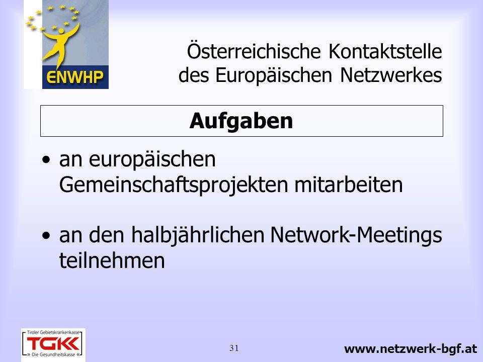 Österreichische Kontaktstelle des Europäischen Netzwerkes
