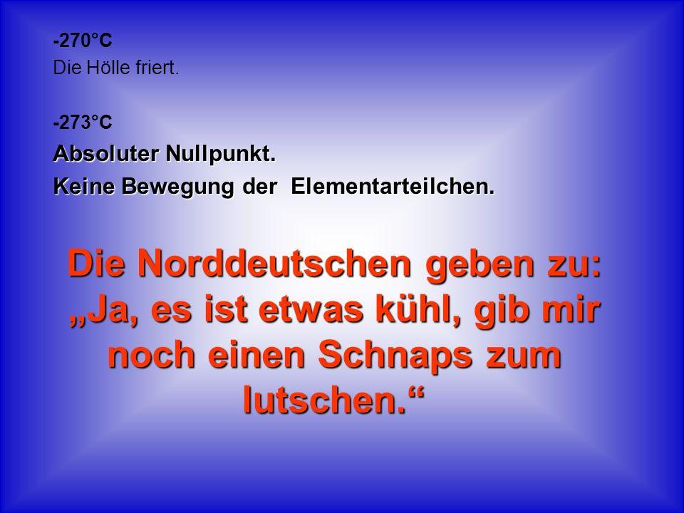 Die Norddeutschen geben zu: