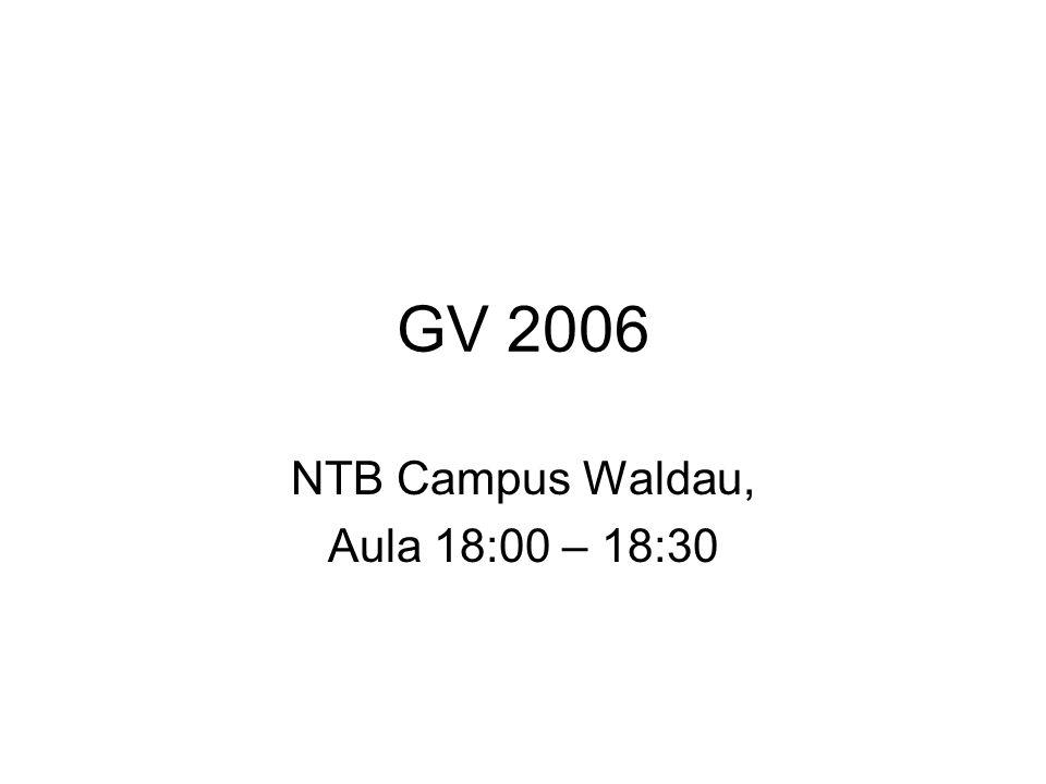 NTB Campus Waldau, Aula 18:00 – 18:30