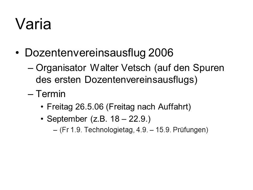 Varia Dozentenvereinsausflug 2006