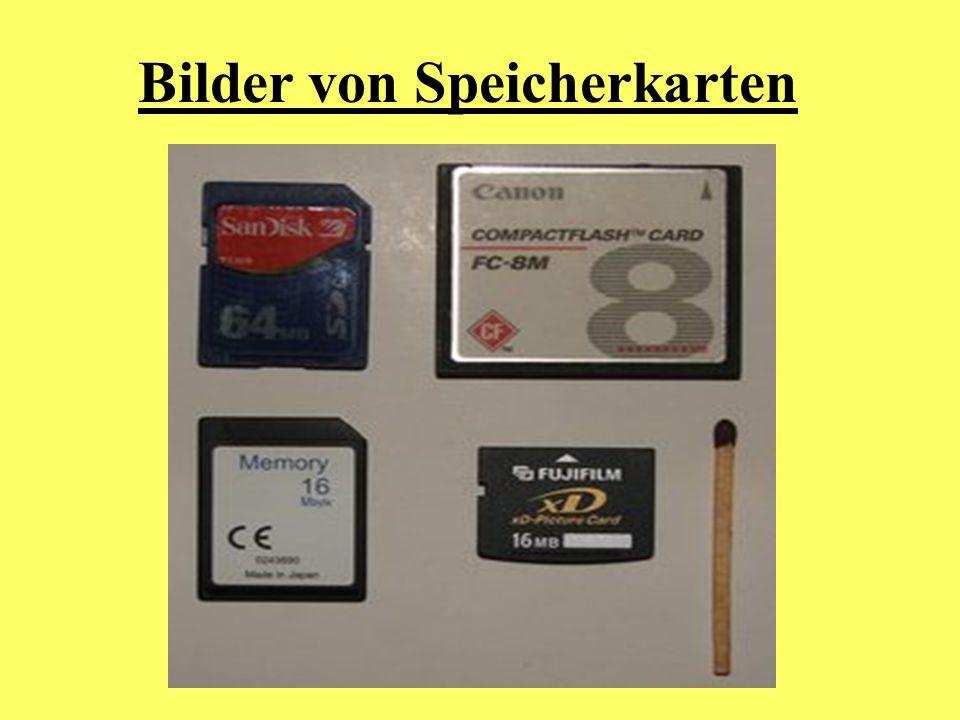 Bilder von Speicherkarten