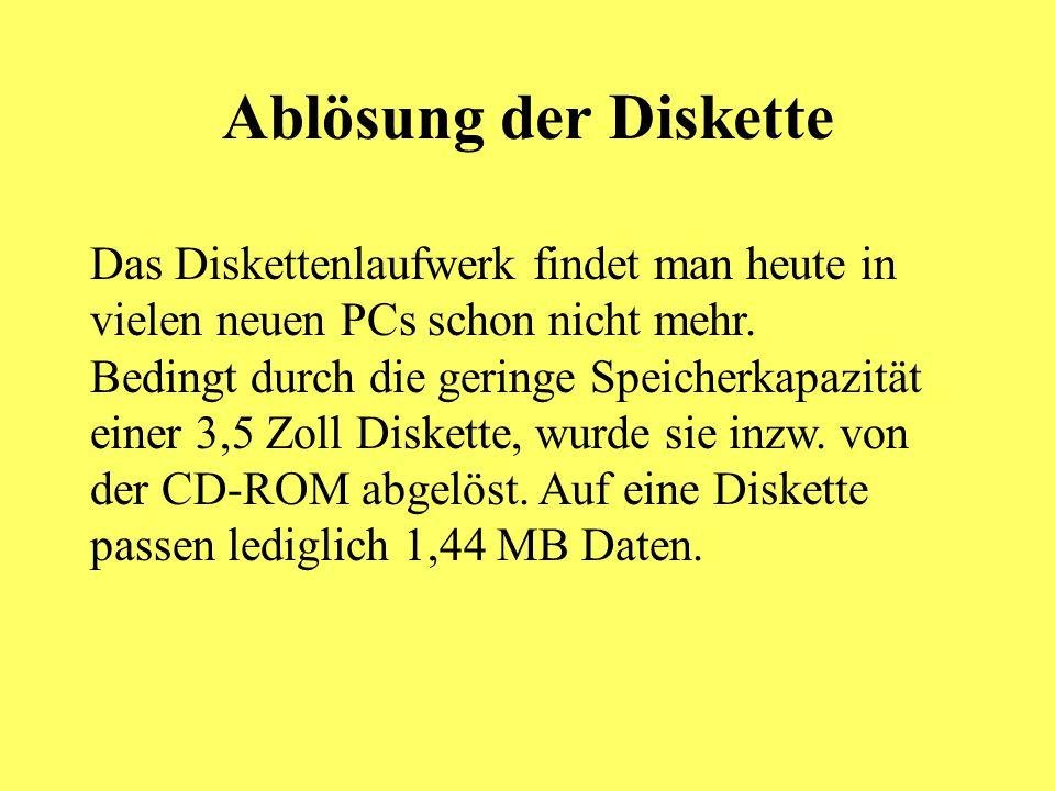 Ablösung der Diskette