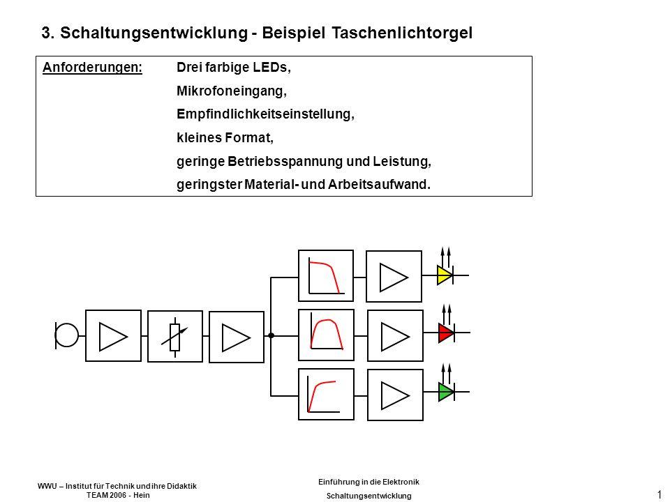 3. Schaltungsentwicklung - Beispiel Taschenlichtorgel