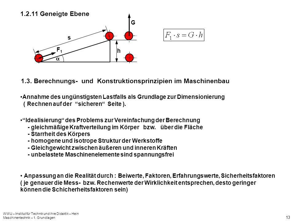 1.3. Berechnungs- und Konstruktionsprinzipien im Maschinenbau