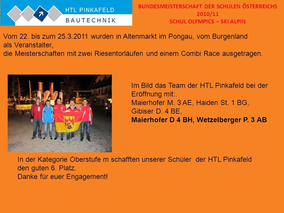 Im Bild das Team der HTL Pinkafeld bei der Eröffnung mit:.