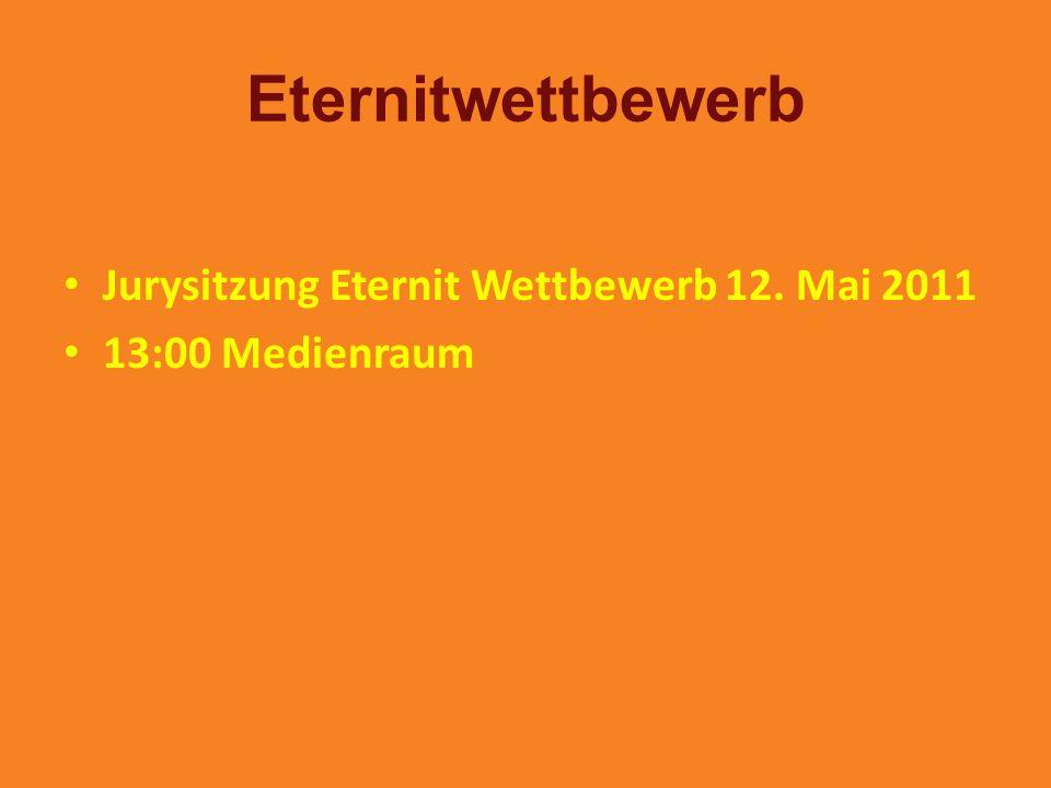 Eternitwettbewerb Jurysitzung Eternit Wettbewerb 12. Mai 2011