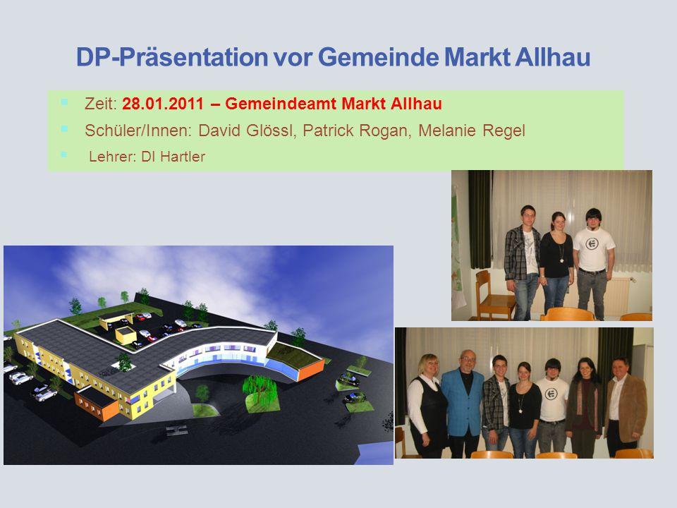 DP-Präsentation vor Gemeinde Markt Allhau