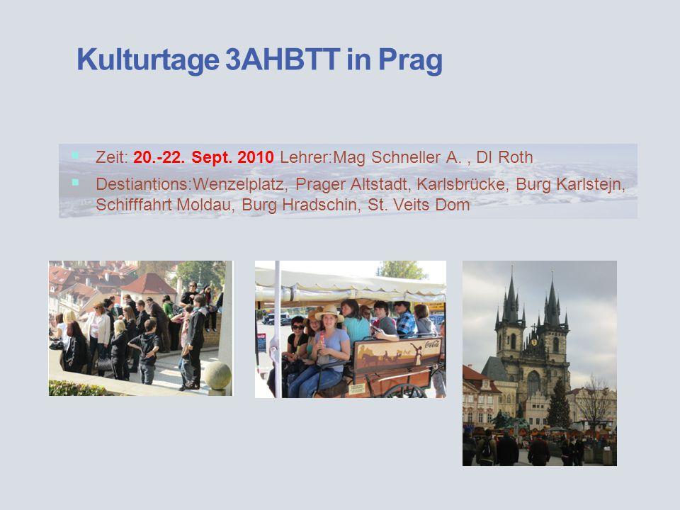 Kulturtage 3AHBTT in Prag