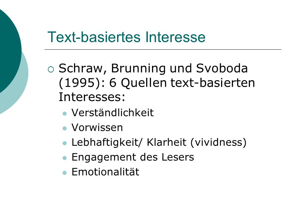 Text-basiertes Interesse
