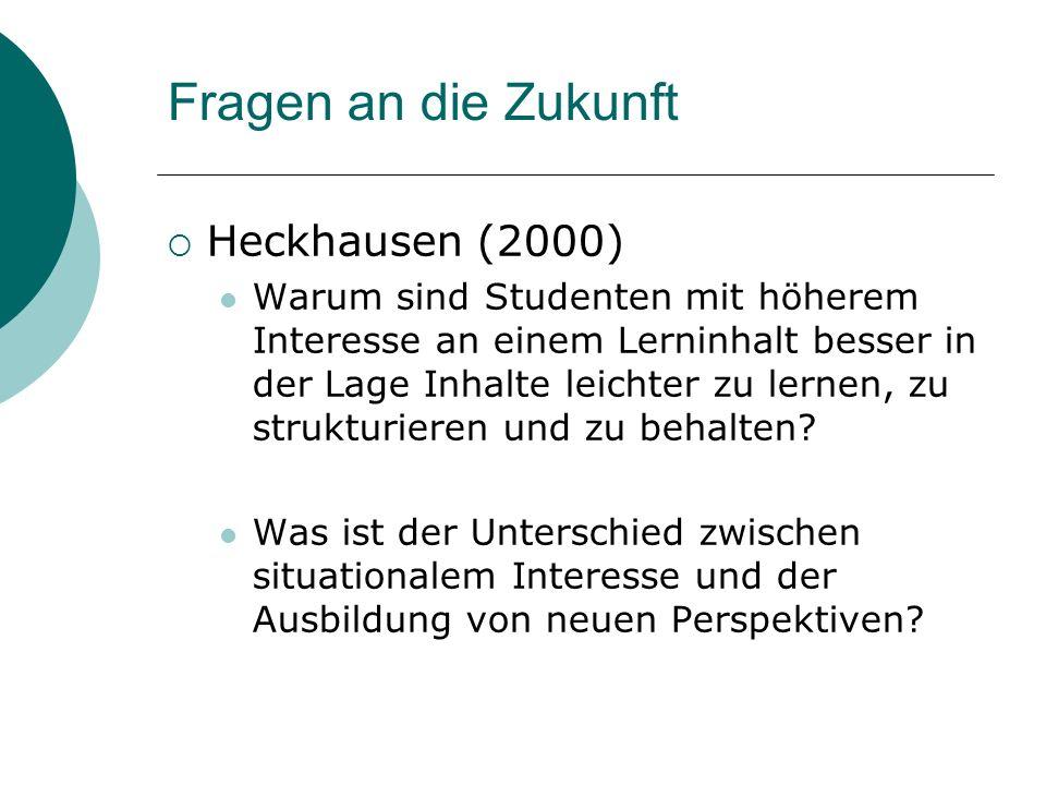 Fragen an die Zukunft Heckhausen (2000)