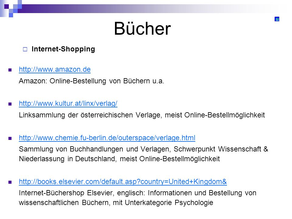 Bücher Internet-Shopping