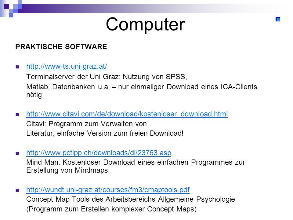 Computer Terminalserver der Uni Graz: Nutzung von SPSS,