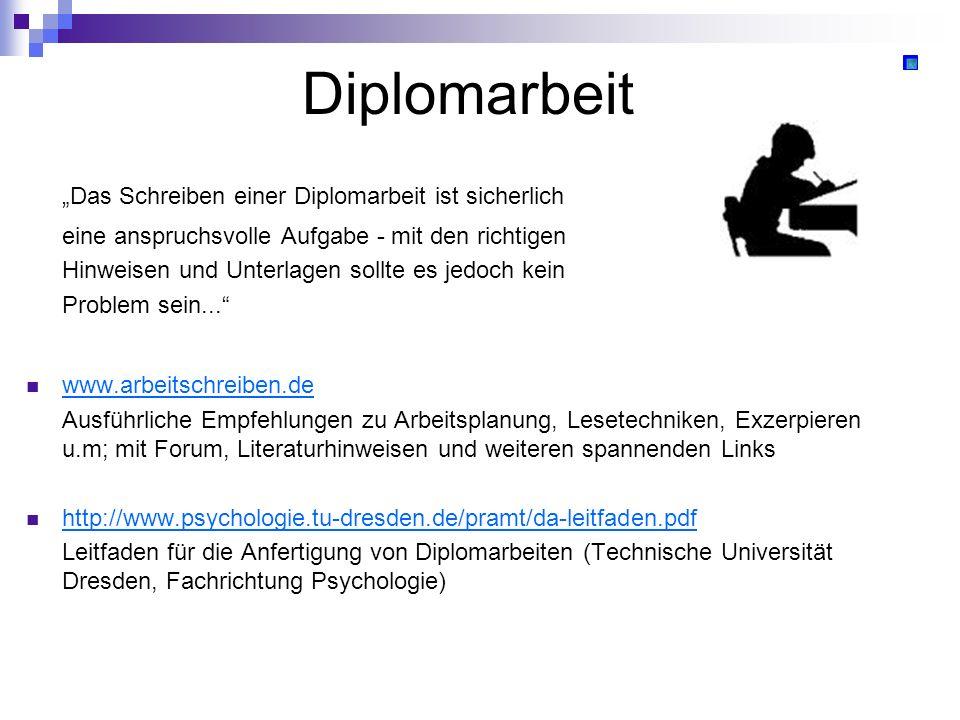"""Diplomarbeit """"Das Schreiben einer Diplomarbeit ist sicherlich"""