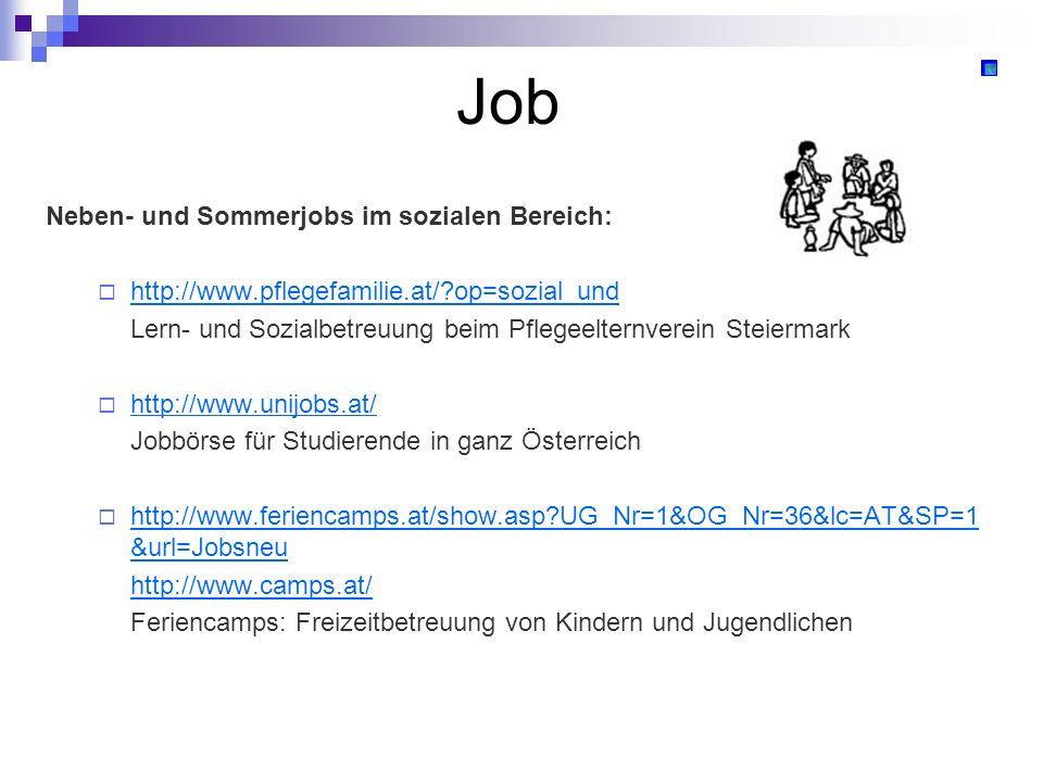 Job Neben- und Sommerjobs im sozialen Bereich: