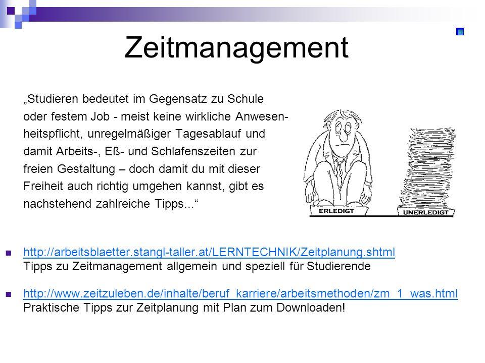 """Zeitmanagement """"Studieren bedeutet im Gegensatz zu Schule"""