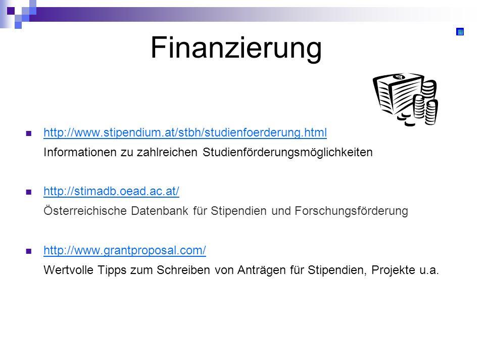 Finanzierung http://www.stipendium.at/stbh/studienfoerderung.html