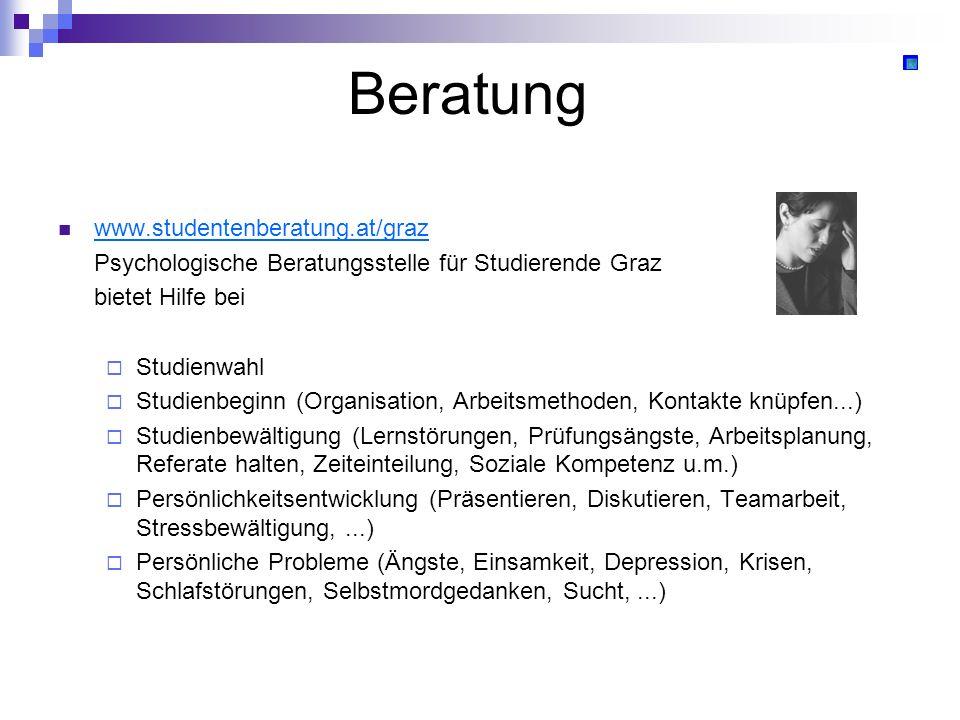 Beratung www.studentenberatung.at/graz