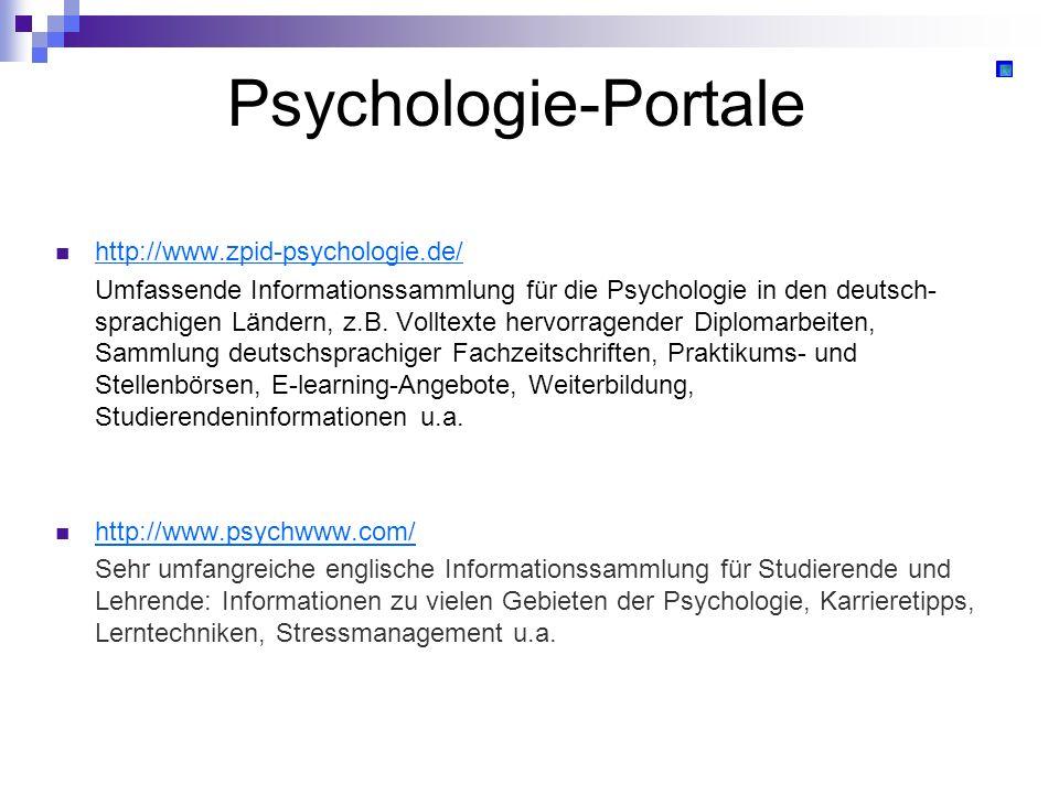 Psychologie-Portale http://www.zpid-psychologie.de/