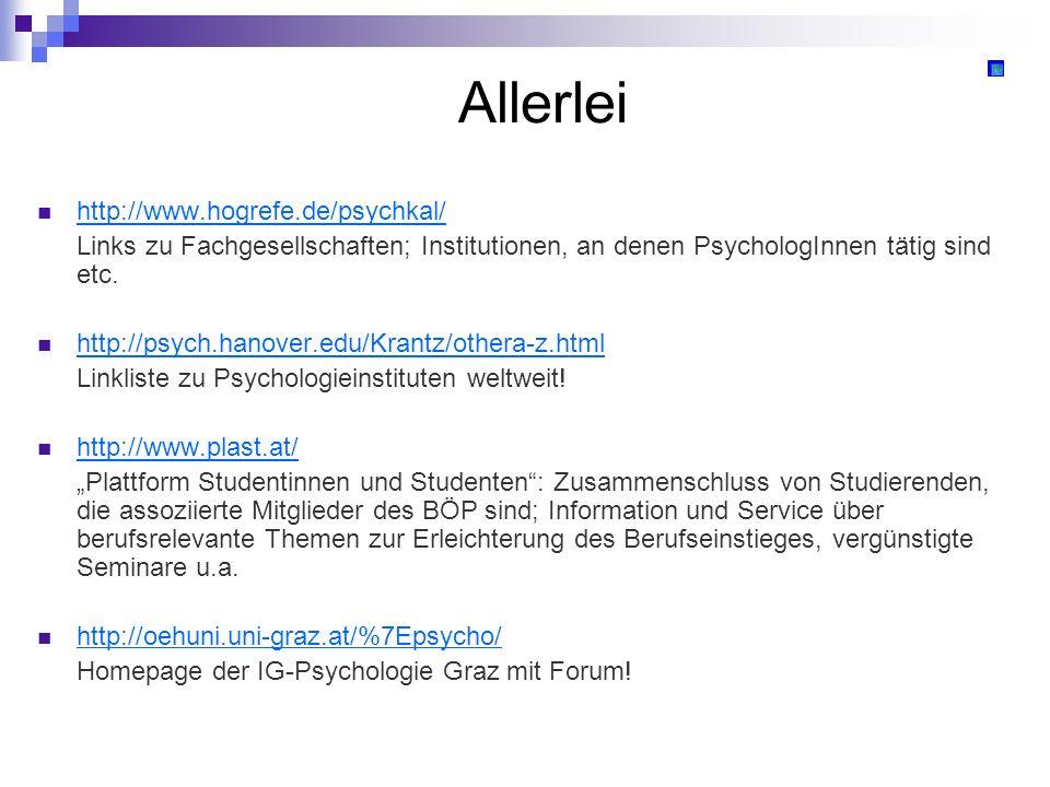 Allerlei http://www.hogrefe.de/psychkal/