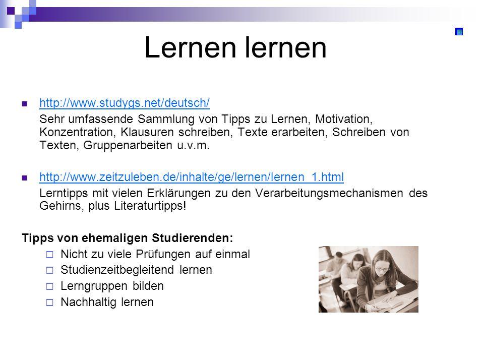 Lernen lernen http://www.studygs.net/deutsch/