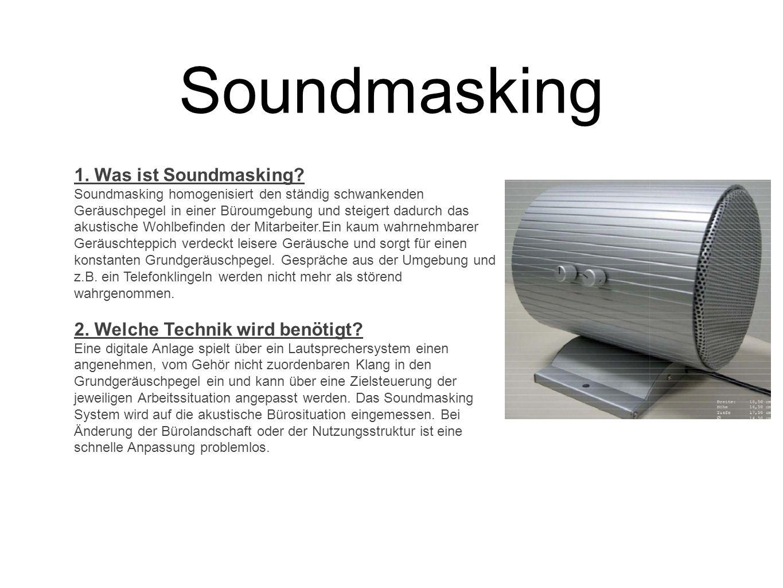 Soundmasking 1. Was ist Soundmasking 2. Welche Technik wird benötigt
