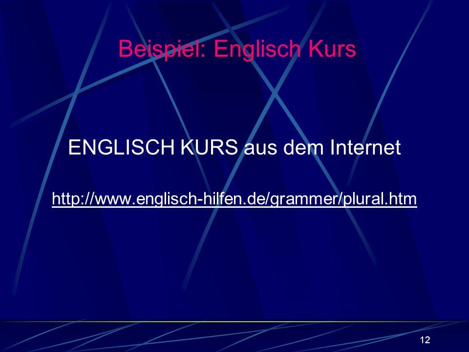 ENGLISCH KURS aus dem Internet