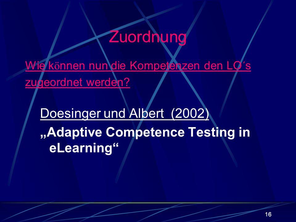 Zuordnung Doesinger und Albert (2002)
