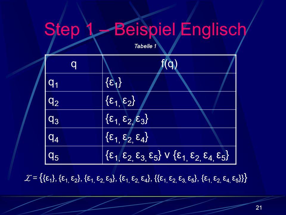 Step 1 – Beispiel Englisch
