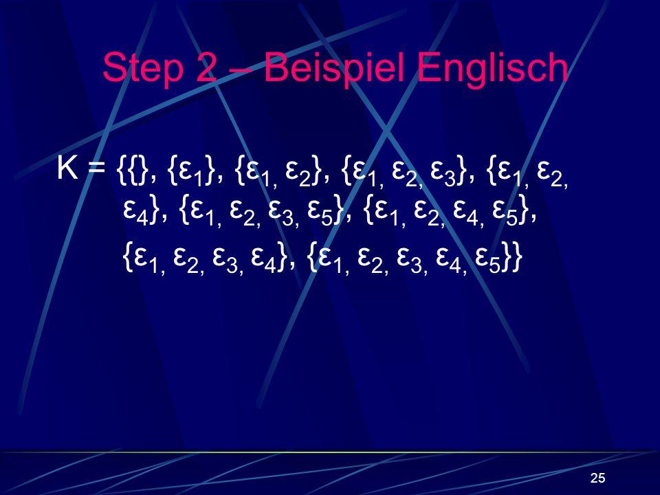 Step 2 – Beispiel Englisch