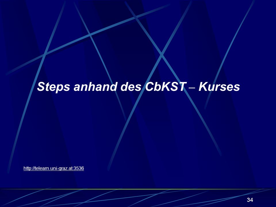Steps anhand des CbKST – Kurses