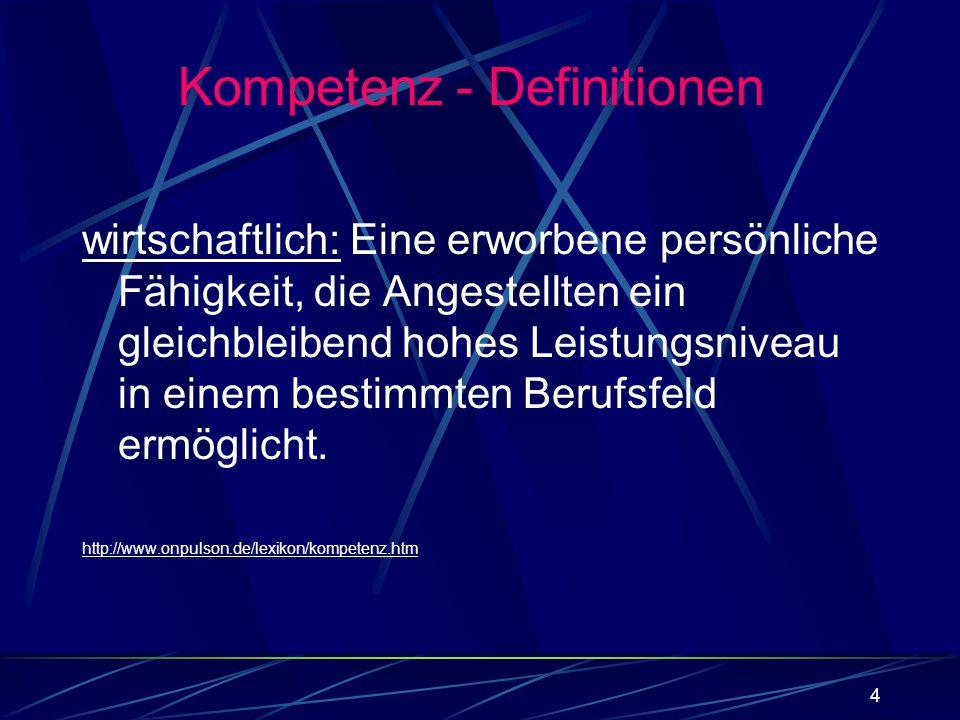Kompetenz - Definitionen