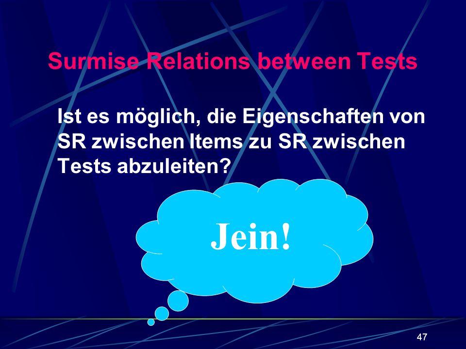 Surmise Relations between Tests