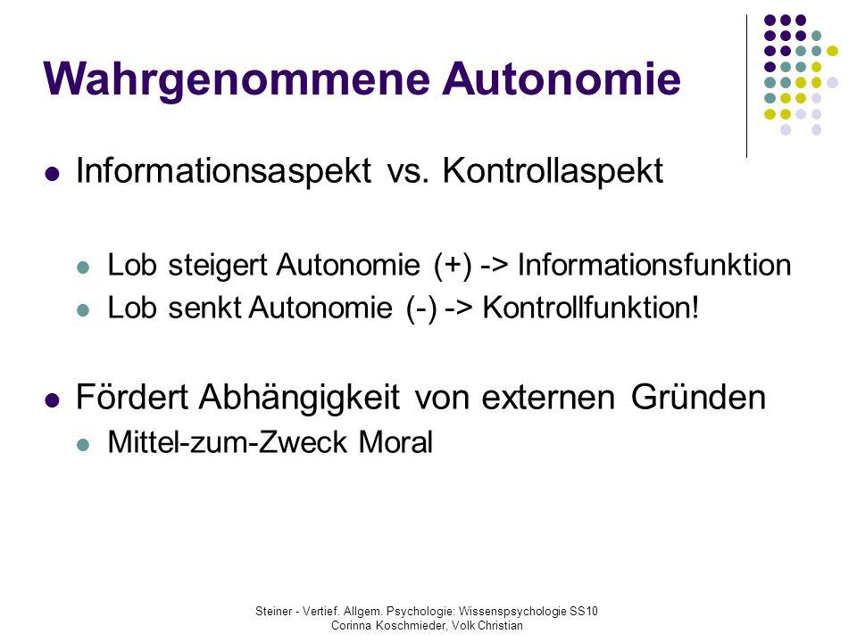 Wahrgenommene Autonomie
