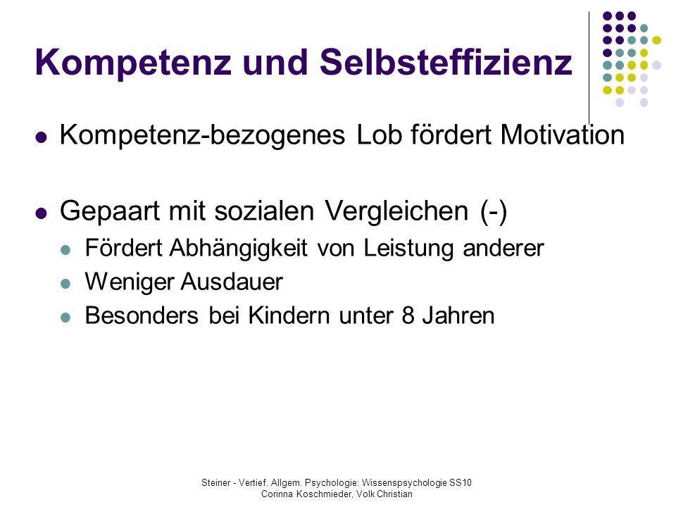 Kompetenz und Selbsteffizienz