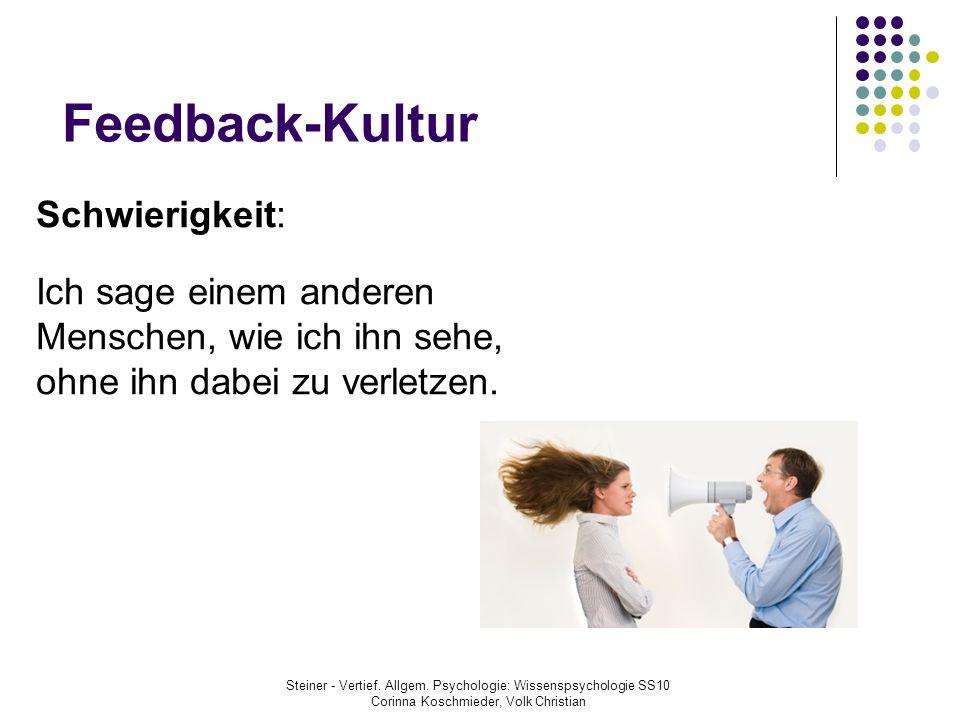 Feedback-Kultur Schwierigkeit:
